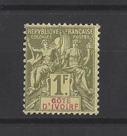 COTE-D'IVOIRE. YT  N° 13  Neuf *  1892-99 - Neufs