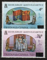 Tristan Da Cunha 1978 Complete Set Of Stamps From Silver Jubilee Set Overprinted. - Tristan Da Cunha