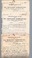 B3242- Marianna Sammartino Duchessa Di Montalbo Amministrazione Dei Beni, 3 Documenti - Libri, Riviste, Fumetti
