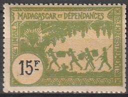 MADAGASCAR Timbre Fiscal 15frs Neuf Sans Charnière - Madagascar (1889-1960)
