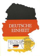 Deutschland: Karte, Gestempelt, Unbenutzt:  1990: Deutsche Einheit, Gesamtdeutsches Parlament #PK - Geschichte