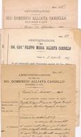 B3243-  Alliata Laura Cardillo, Amministrazione Dei Beni In Carini, 4 Documenti + Uno - Books, Magazines, Comics