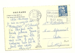LOIRET - Dépt N° 45 = ORLEANS RP 1952 = FLAMME TEMPORAIRE = SECAP  'FOIRE EXPOSITION' - Marcophilie (Lettres)