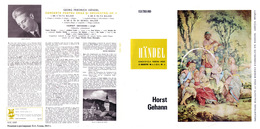 Superlimited Edition CD Horst Gehann&COLLEGIUM. HAENDEL. ORGELKONZERTE 4,5,6, Op.4. - Instrumental