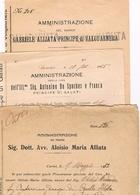 B3245- De Spuches P.pe Di Galati,  Gabriele Alliata P.pe Di Valguarnera, Aloisio Maria Alliata, 3 Documenti Diversi - Books, Magazines, Comics