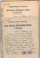 B3246- Alliata Di Villafranca Beni Indivisi, Amministrazione Giudiziaria, 44 Documenti. - Books, Magazines, Comics