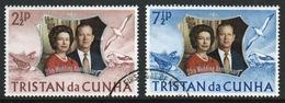 Tristan Da Cunha 1972 Complete Set Of Stamps Celebrating The Royal Silver Wedding. - Tristan Da Cunha