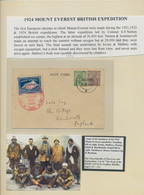 """Tibet: 1924, Himalaya Expedition Vignette In Blue Tied By Red """"MT.EVEREST EXPEDITION / RONGBUK GLACI - Stamps"""
