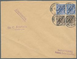 """Thematik: Antarktis / Antarctic: 1899, Deutsch-Südwestafrika, Viol. L2 """"Dampfschiff- VALDIVIA - DEUT - Sonstige"""