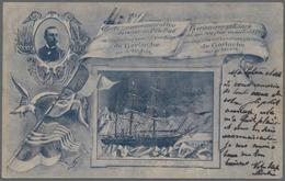 Thematik: Antarktis / Antarctic: 1899, Three Picture Postcards Commemorating The Return Of The South - Sonstige