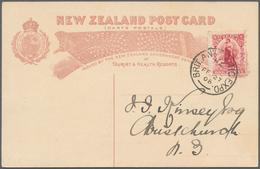 "Thematik: Antarktis / Antarctic: 1908, New Zealand. Postmark ""BRIT. ANTARCTIC EXPD. FE 27 08"" On Add - Sonstige"