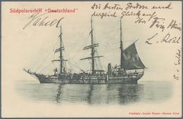 """Thematik: Antarktis / Antarctic: 1911, DEUTSCHE SÜDPOLAR EXPEDITION, Expeditions-Karte """"Südpolarschi - Sonstige"""