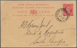 Thematik: Antarktis / Antarctic: 1926, Falkland Islands. Entire Postcard (light Corner Bend) From A - Sonstige