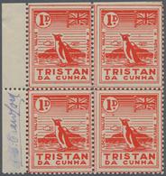 "Thematik: Antarktis / Antarctic: 1946, Tristan Da Cunha. Local Value 1d ""4 Potatoes"" In A Left Margi - Sonstige"