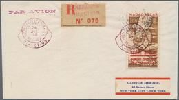 Thematik: Antarktis / Antarctic: 1948, Malagasy Republic. Single Franking 100fr Allegory Of Air Mail - Sonstige