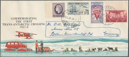 Thematik: Antarktis / Antarctic: ROSS DEP.: 1957/58, Cpl. First Set On Illustrated Cover Commemorati - Sonstige