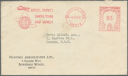 Thematik: Antarktis / Antarctic: 1957. Envelope From 'Hunting Aerosurveys Ltd' Addressed To London C - Sonstige