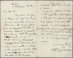 "Thematik: Arktis / Arctic: 1891, FRIDTJOF NANSEN, Handwritten Letter From ""Lysaker July 4th"", In Whi - Polarmarken"