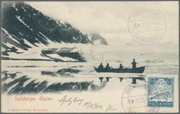 Thematik: Arktis / Arctic: 1904. Picture Post Card Of 'Spitzbergen Glacier' Addressed To France Bear - Polarmarken