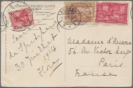Thematik: Arktis / Arctic: 1914, Norway / German Reich. Interesting Colored Picture-postcard Of A Sp - Polarmarken