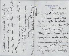Thematik: Arktis / Arctic: 1915, ROBERT EDWIN PEARY, Handwritten Letter (June 1st) To President Kolb - Polarmarken