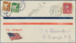 Thematik: Arktis / Arctic: 1926, USA. BYRD'S FLIGHT OVER THE NORTH POLE, Flight Duration 14 Hours. A - Polarmarken