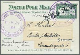 "Thematik: Arktis / Arctic: 1926, 11-14/V, ""LUFTPOST MED ""NORGE"" SVALBARD-NORDPOLEN-ALASKA"", Violet C - Polarmarken"