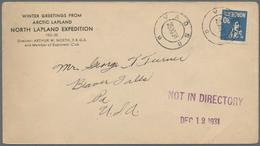 "Thematik: Arktis / Arctic: 1931: Norway 30 Ore Tied By VADSO 25.11.1931 Cds On Envelope ""WINTER GREE - Polarmarken"