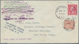 "Thematik: Arktis / Arctic: 1931, USA / Great Britain. Violet Cachet ""Wilkins-Ellsworth Trans-Arctic - Polarmarken"