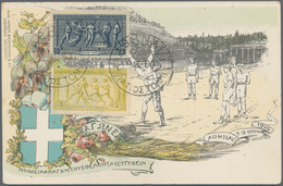 Thematik: Olympische Spiele / Olympic Games: 1906, Greece, Intermediate Olympic Games, 1l.-5dr., Com - Olympic Games