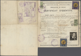 "Thematik: Politik / Politics: 1928/1929, France. NANSEN REFUGEE PASSPORT ""Certificat D'Identite"" Bea - Stamps"