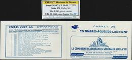Frankreich MH Carnet Yvert No. 1263-C3 S. 16-61 ** TTB, Cérès 370, Dallay 341, CD 20.10.61 Avec Barres, 4 Scans - Markenheftchen