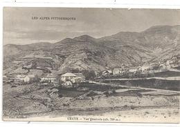 LES ALPES PITTORESQUES - UBAYE . VUE GENERALE - CARTE ECRITE AU VERSO LE 18 AVRIL 1915 - Autres Communes