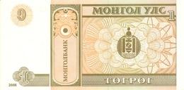 MONGOLIA P. 61Aa 1 T 2008 UNC (2 Billets) - Mongolia