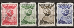 1935 Kind NVPH 279-282 -  Cancelled/gestempeld - Periode 1891-1948 (Wilhelmina)