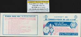 Frankreich MH Carnet Yvert No. 1263-C3 S. 11-60 ** TTB, Cérès 370, Dallay 341, CD 25.8.60 Avec Barres, 4 Scans - Markenheftchen