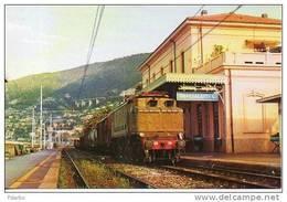 GS1 Treni Merci E 646.056 FS A Ospedaletti L. Imperia Rairoad Treain Railweys Trenio - Trains