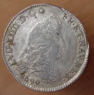 Louis XIV Quart D'écu Aux 8 LL  1690 Atelier à Déterminé - 987-1789 Royal