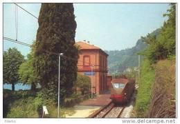 G34 Treno ALe 883..028 Ferrovia Stazione Fiumelatte Railroad Train Railways Treni - Stazioni Con Treni
