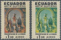 Ecuador: 1971, Virgen $1.30 Without Printing Of The Red Colour, Sc. C473 Var. ÷ 1971, Religiöse Kuns - Ecuador