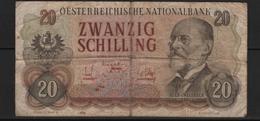 B2 - AUTRICHE - 20 Schilling - 2/7/1956 - Austria