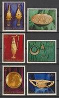 MiNr. 3140 - 3145  Rumänien 1973, 25. Juli. Goldschatz Von Pietroasa. - Gebraucht