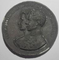 Austria Italy Lombardo-Veneto Visita Francesco Giuseppe E Sissi A Milano 1857 - 55 Mm Zama - Franz Joseph & Sissi Milan - Royal / Of Nobility