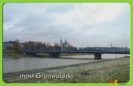 Voyo POLAND CRACOW Monthly Ticket  BRIDGE GRUNWALDZKI  2002 Plastic Card - Week-en Maandabonnementen