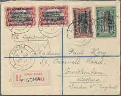 Ruanda-Urundi - Belgische Besetzung Deutsch-Ostafrika: 1917. Registered Envelope Addressed To London - Ruanda-Urundi