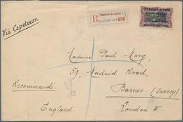 Ruanda-Urundi - Belgische Besetzung Deutsch-Ostafrika: 1918 Registered Envelope (tear At Top) Addres - Ruanda-Urundi
