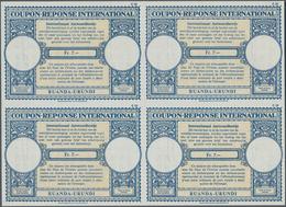 Ruanda-Urundi: 1960. International Reply Coupon Fr. 7.- (London Type) In An Unused Block Of 4. Issue - Ruanda-Urundi