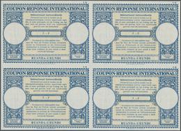 Ruanda-Urundi: 1961. International Reply Coupon 7.- Fr. (London Type) In An Unused Block Of 4. Issue - Ruanda-Urundi