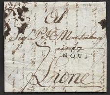 1814 - LAC - 87 NOVI 20mm X 10mm Pour LIONE - Marcophilie (Lettres)