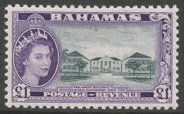Bahamas. 1954-63 QEII. £1 MH. SG 216 - Bahamas (...-1973)